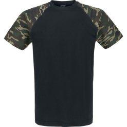Urban Classics Raglan Contrast Tee T-Shirt czarny/Woodland. Niebieskie t-shirty męskie marki Urban Classics, l, z okrągłym kołnierzem. Za 42,90 zł.
