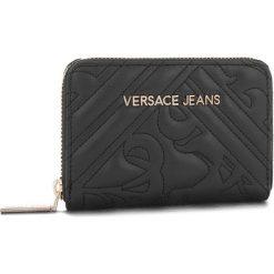 Duży Portfel Damski VERSACE JEANS - E3VSBPZ2 70792 899. Czarne portfele damskie Versace Jeans, z jeansu. Za 349,00 zł.