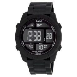 Zegarki męskie: Zegarek Q&Q Męski M123-001 Dual Time czarny