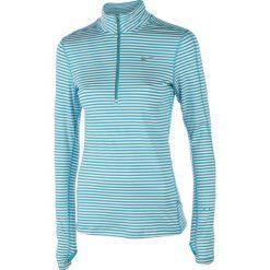 Bluzy damskie: bluza do biegania damska NIKE ELEMENT STRIPE 1/2 ZIP / 645648-407 – bluza do biegania damska NIKE ELEMENT STRIPE 1/2 ZIP