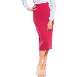 Spódniczki: Czerwona spódnica ołówkowa za kolano BIALCON