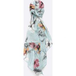 Answear - Szal. Szare szaliki damskie marki ANSWEAR, w kwiaty, z tkaniny. W wyprzedaży za 29,90 zł.