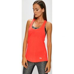 Under Armour - Top. Różowe topy sportowe damskie Under Armour, m. Za 119,90 zł.