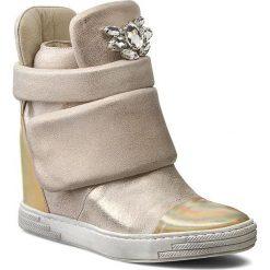 Buty zimowe damskie: Sneakersy CARINII – B3572 Venus 14 Plat. Multik/Dave Met 6715