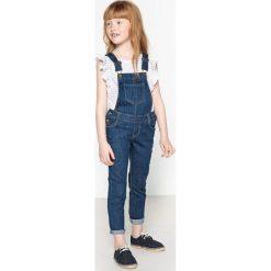 Jeansy dziewczęce: Ogrodniczki dżinsowe długie, 3-12 lat