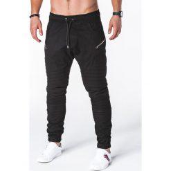 Spodnie męskie: SPODNIE MĘSKIE JOGGERY P709 – CZARNE