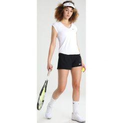Nike Performance PURE Tshirt basic blanc/noir. Białe topy sportowe damskie marki Nike Performance, l, z elastanu. W wyprzedaży za 161,10 zł.