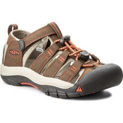 Sandały KEEN - Newport H2 1018270  Dark Earth/Spicy Orange. Brązowe sandały chłopięce Keen, z materiału. W wyprzedaży za 189,00 zł.