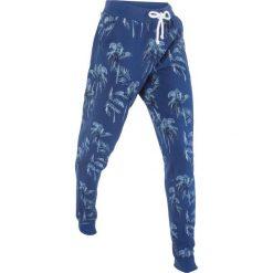 Spodnie dresowe damskie: Spodnie dresowe, długie bonprix kobaltowy melanż z nadrukiem