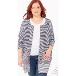 Swetry klasyczne damskie: Prążkowany sweter z wolnymi połami Plus