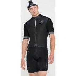 T-shirty męskie z nadrukiem: ODLO FULL ZIP CERAMICOOL XLIGHT   Tshirt z nadrukiem black