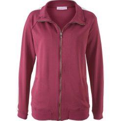Bluzy damskie: Bluza rozpinana z długim rękawem, z kolekcji Maite Kelly bonprix czerwony rododendron – biały