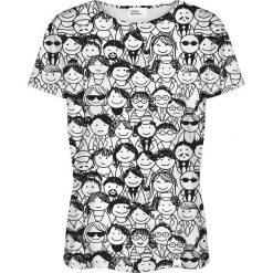 Colour Pleasure Koszulka damska CP-030 137 czarno-biała r. XL/XXL. Fioletowe bluzki damskie marki Colour pleasure, uniwersalny. Za 70,35 zł.