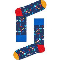 Happy Socks - Skarpety Axe. Niebieskie skarpetki męskie Happy Socks, z bawełny. Za 39,90 zł.