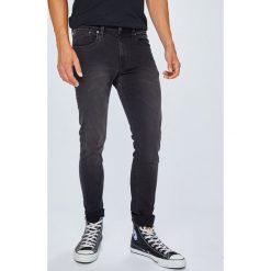 Pepe Jeans - Jeansy Finsbury. Szare jeansy męskie skinny Pepe Jeans, z bawełny. Za 339,90 zł.
