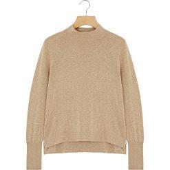 Sweter w kolorze beżowym. Brązowe swetry klasyczne damskie Rodier, z wełny. W wyprzedaży za 84,95 zł.