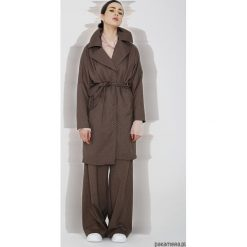 Płaszcze damskie: Wełniany płaszcz w kratę
