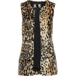 Kamizelki damskie: Długa kamizelka ze sztucznego futerka bonprix w cętki leoparda