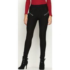 Spodnie damskie: Czarne Legginsy Slope