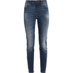 Rurki damskie: Benetton 5 POCKETS HIGH RISE Jeansy Slim Fit medium blue