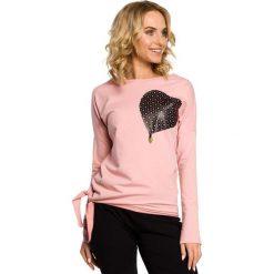 KENZIE Bluza ze skórzanym sercem - różowa. Brązowe długie bluzy damskie marki Moe, l, z bawełny. Za 89,00 zł.