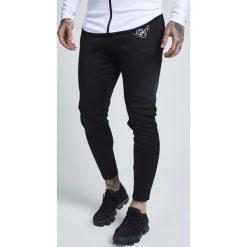 Spodnie dresowe męskie: SIKSILK ATHLETE TRACK PANTS Spodnie treningowe black/white