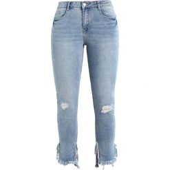 Missguided ANARCHY ANKLE GRAZER STEPPED SPLIT HEM VINTAGE WASH Jeans Skinny Fit blue. Niebieskie jeansy damskie marki Missguided, z bawełny. W wyprzedaży za 161,10 zł.