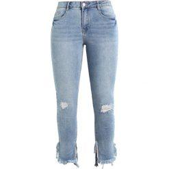 Missguided ANARCHY ANKLE GRAZER STEPPED SPLIT HEM VINTAGE WASH Jeans Skinny Fit blue. Niebieskie jeansy damskie Missguided. W wyprzedaży za 161,10 zł.