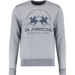 Kardigany męskie: La Martina CREW NECK Sweter medium heather grey