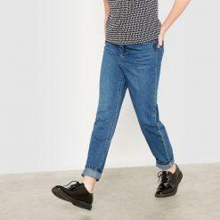 Dżinsy typu boyfit. Szare spodnie chłopięce La Redoute Collections, z bawełny, z standardowym stanem. Za 79,80 zł.