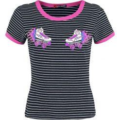 Hell Bunny Roller Skate Top Koszulka damska czarny/biały. Białe topy damskie Hell Bunny, l, z aplikacjami, z bawełny. Za 121,90 zł.