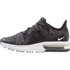 Nike Performance AIR MAX SEQUENT 3 Obuwie do biegania treningowe black/dark grey/white/metallic hematite. Czarne buty sportowe chłopięce Nike Performance, z materiału, do biegania. Za 359,00 zł.