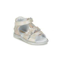 Sandały Dziecko  GBB  PING. Czerwone sandały dziewczęce marki Born2be, z materiału, z otwartym noskiem, na zamek. Za 149,50 zł.