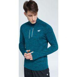 Bluzy męskie: Bluza treningowa męska BLMF002 – morska zieleń melanż