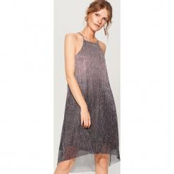 Sukienka mini z efektem ombre - Jasny szar. Szare sukienki mini marki Mohito, l. W wyprzedaży za 79,99 zł.