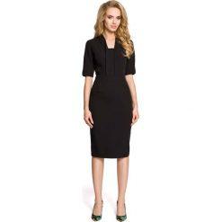 Czarna Sukienka Ołówkowa Midi z Efektownym Dekoltem. Czarne sukienki balowe marki Molly.pl, do pracy, l, z dekoltem na plecach, midi, dopasowane. Za 118,90 zł.