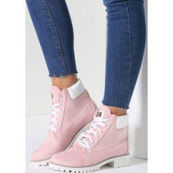 Buty zimowe damskie: Różowe Traperki Speedy Fly