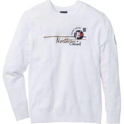 Swetry męskie: Sweter Regular Fit bonprix biały