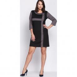 Czarno-Szara Sukienka Since You're Gone. Czarne sukienki Born2be, na jesień, xxl, midi, oversize. Za 24,99 zł.