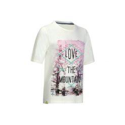 Koszulka Hike 500 dla dzieci. Białe t-shirty dziewczęce QUECHUA, z tkaniny. W wyprzedaży za 14,99 zł.