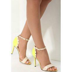 Beżowo-Żółte Sandały Pictures Of Vogue. Brązowe sandały damskie marki vices, z materiału, ze szpiczastym noskiem, na wysokim obcasie, na obcasie. Za 89,99 zł.