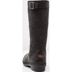 UGG JANINA Śniegowce black. Czarne buty zimowe damskie Ugg, z materiału. Za 969,00 zł.