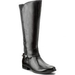 Oficerki CAPRICE - 9-25531-29 Black Nappa 022. Czarne buty zimowe damskie Caprice, z materiału, na obcasie. W wyprzedaży za 429,00 zł.