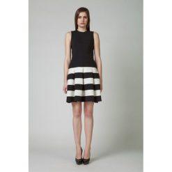 Odzież damska: Sukienka Kortas w kolorze kremowo-czarnym