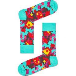 Happy Socks - Skarpetki Flower. Szare skarpetki damskie Happy Socks, z bawełny. W wyprzedaży za 29,90 zł.