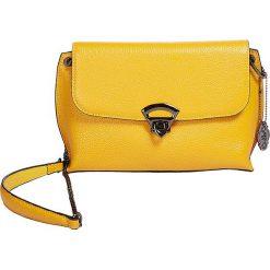 """Torebki klasyczne damskie: Skórzana torebka """"Rio"""" w kolorze żółtym - 24 x 18 x 8 cm"""