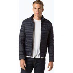 Armani Exchange - Męska kurtka puchowa, niebieski. Czarne kurtki męskie pikowane marki Armani Exchange, l, z materiału, z kapturem. Za 749,95 zł.