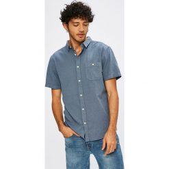 Quiksilver - Koszula. Szare koszule męskie na spinki marki Quiksilver, l, z bawełny, z klasycznym kołnierzykiem, z krótkim rękawem. W wyprzedaży za 159,90 zł.