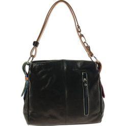 Torebki klasyczne damskie: Skórzana torebka w kolorze czarnym – 39 x 25 x 10 cm