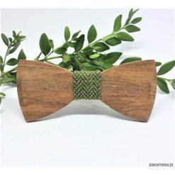 Muchy męskie: Drewniana muszka Natural Green